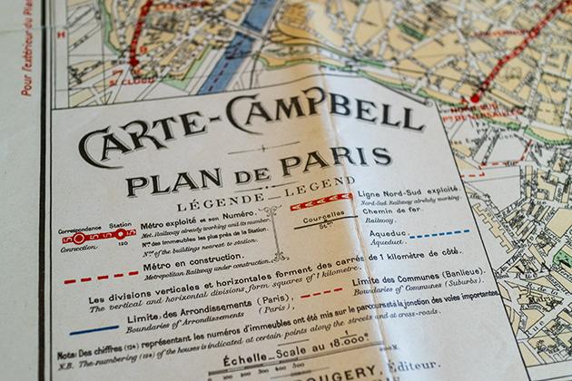1950年のパリの地図