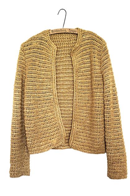 1950s手編みニットジャケット