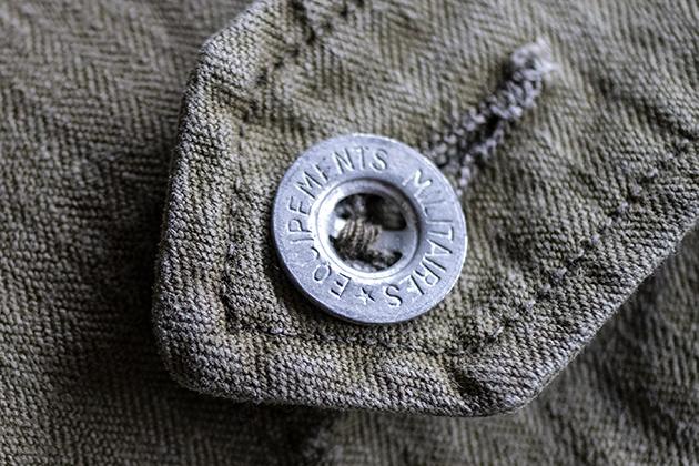 M47パンツ刻印入り金属ボタン