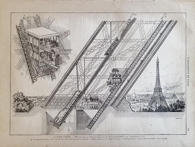 エッフェル塔建設当時のエレベーター