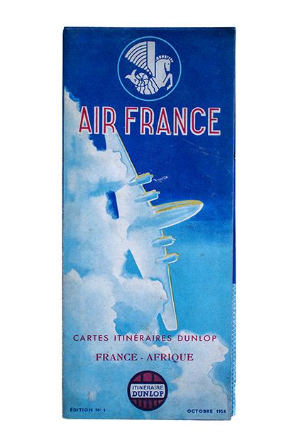 Air France発行のアフリカ地図(1954年)