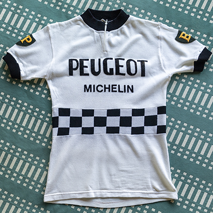 1960s Peugeot Michelin maillot cyclisme