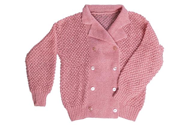 1980年代ダブルブレスト手編みニットジャケット
