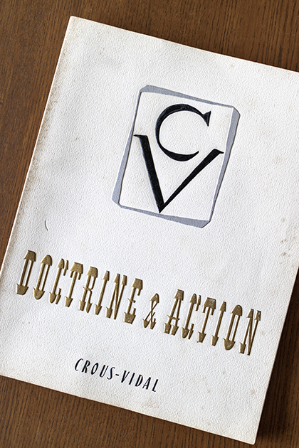 Crous-Vidal, Doctrine&Action, 1954.