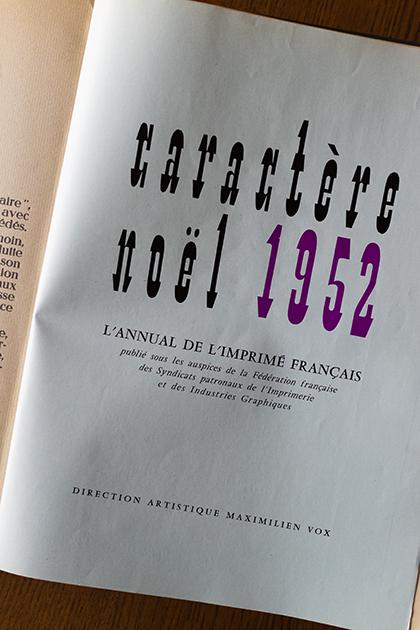 Revue mensuelle des industries graphiques, Caractère, dec 1952.