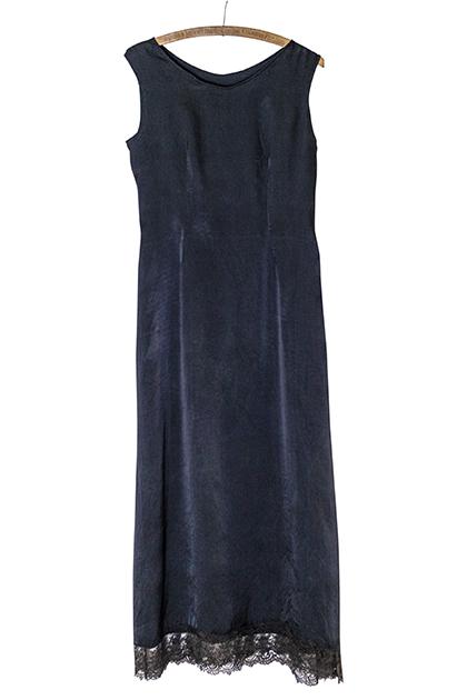 1930年代シルク地ドレス