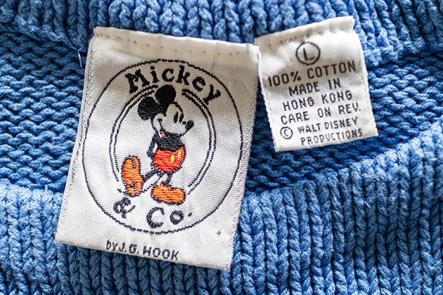 1980sミッキーマウスのニット