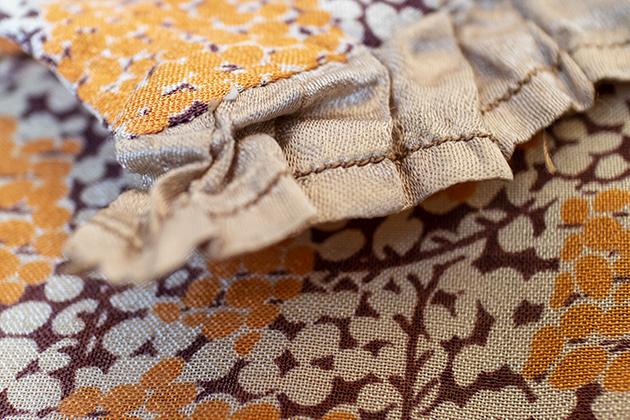 1930sシルクの手縫いワンピース