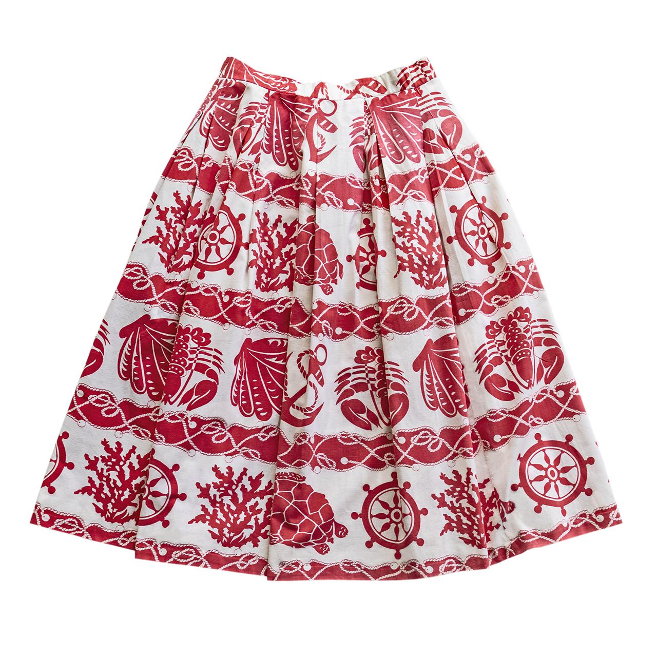 1950年代 海のモチーフスカート