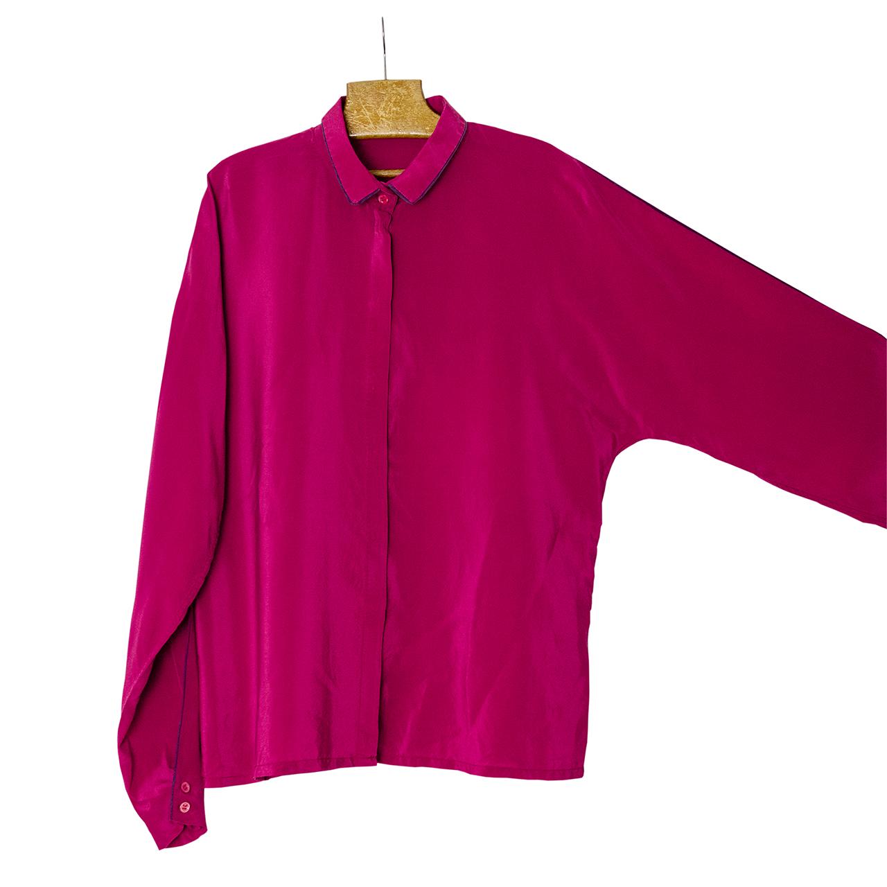 1980年代Lanvinシルクシャツ