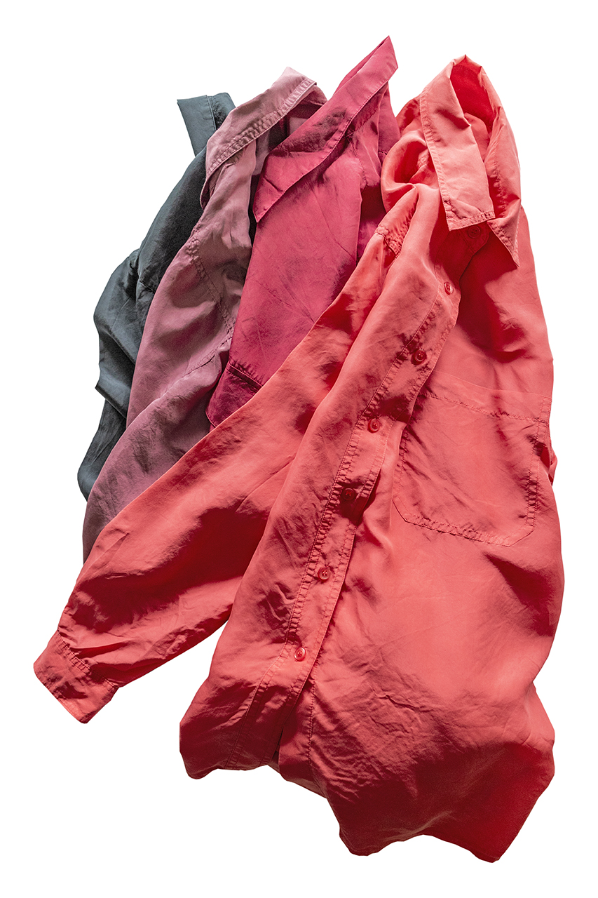 1980年代のシルク地シャツ