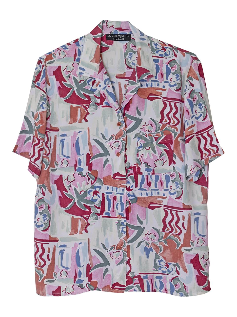 1980年代Cacharelハワイアンシャツ