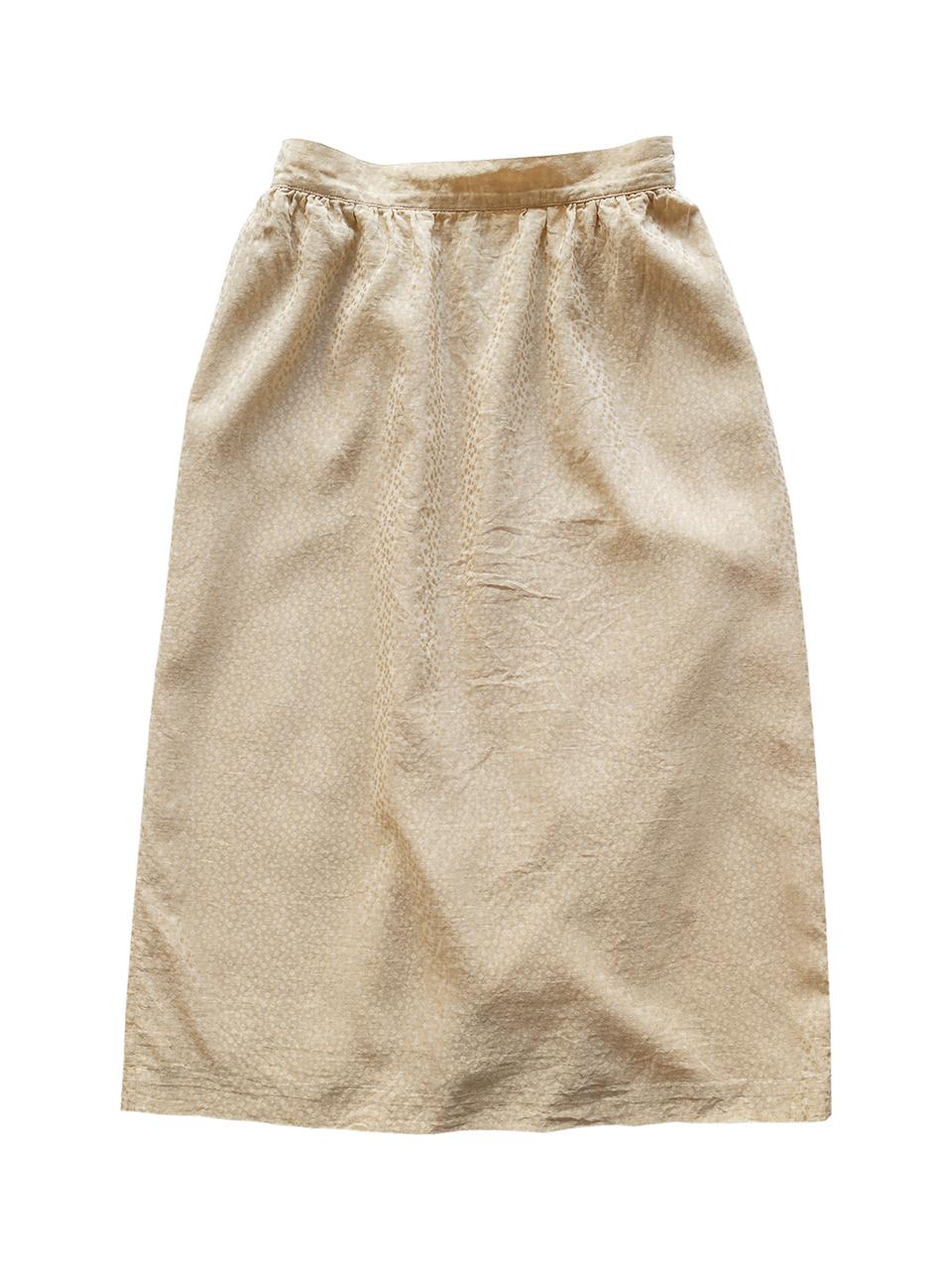 1970年代終盤Yveline Garnierダマスクシルクスカート