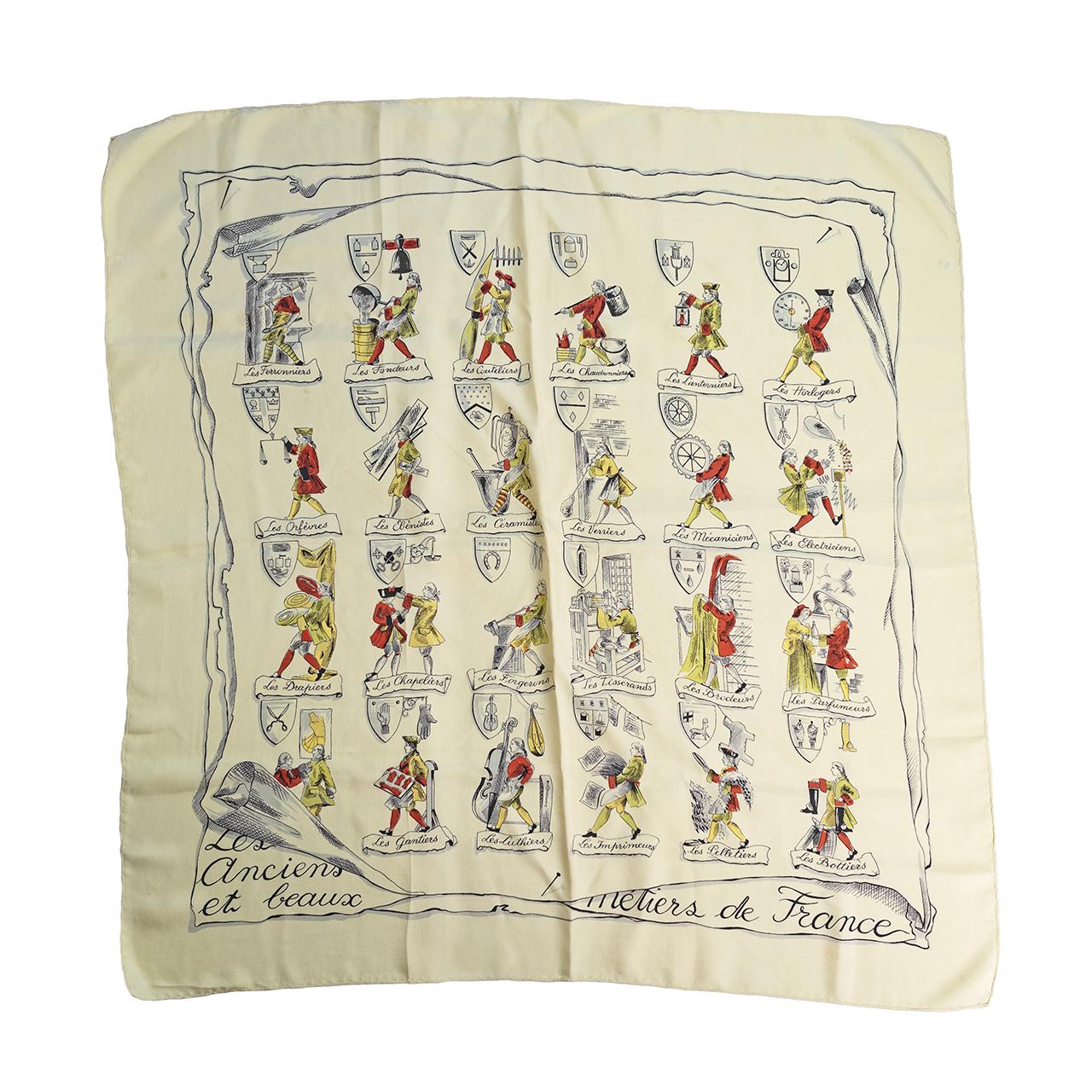 フランスの古い仕事スカーフ