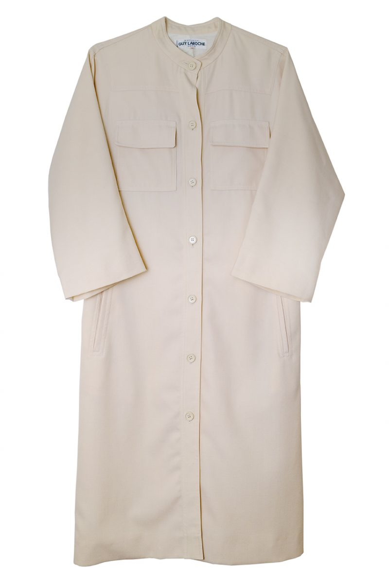 1972年ごろのGuy Larocheウール地コートドレス