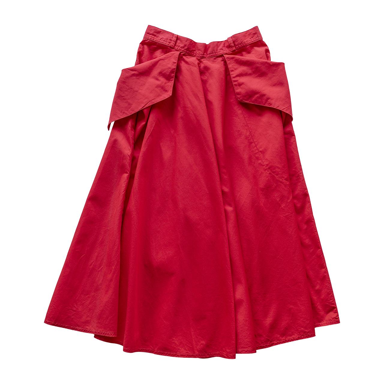 1970年代後半イタリア製フレアスカート赤