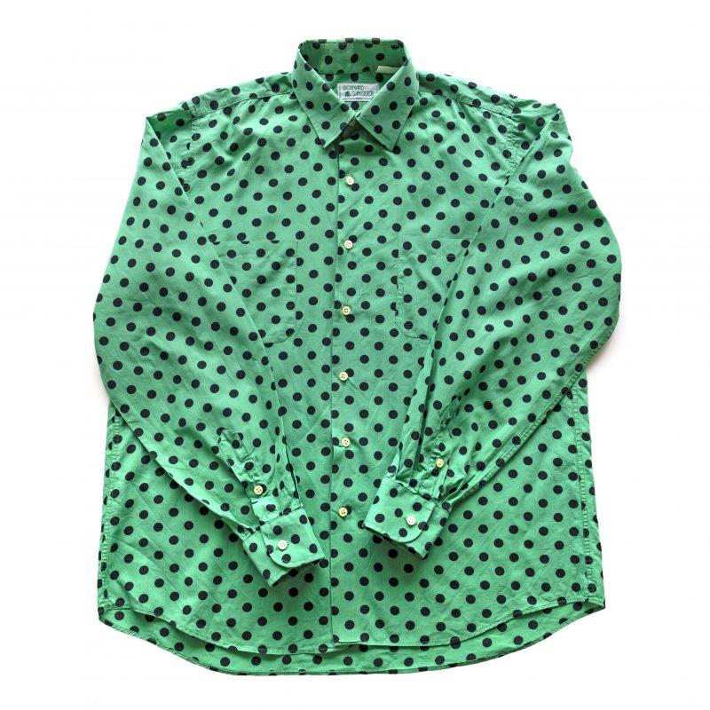 1980年代Bernard Sanglier水玉模様シャツ