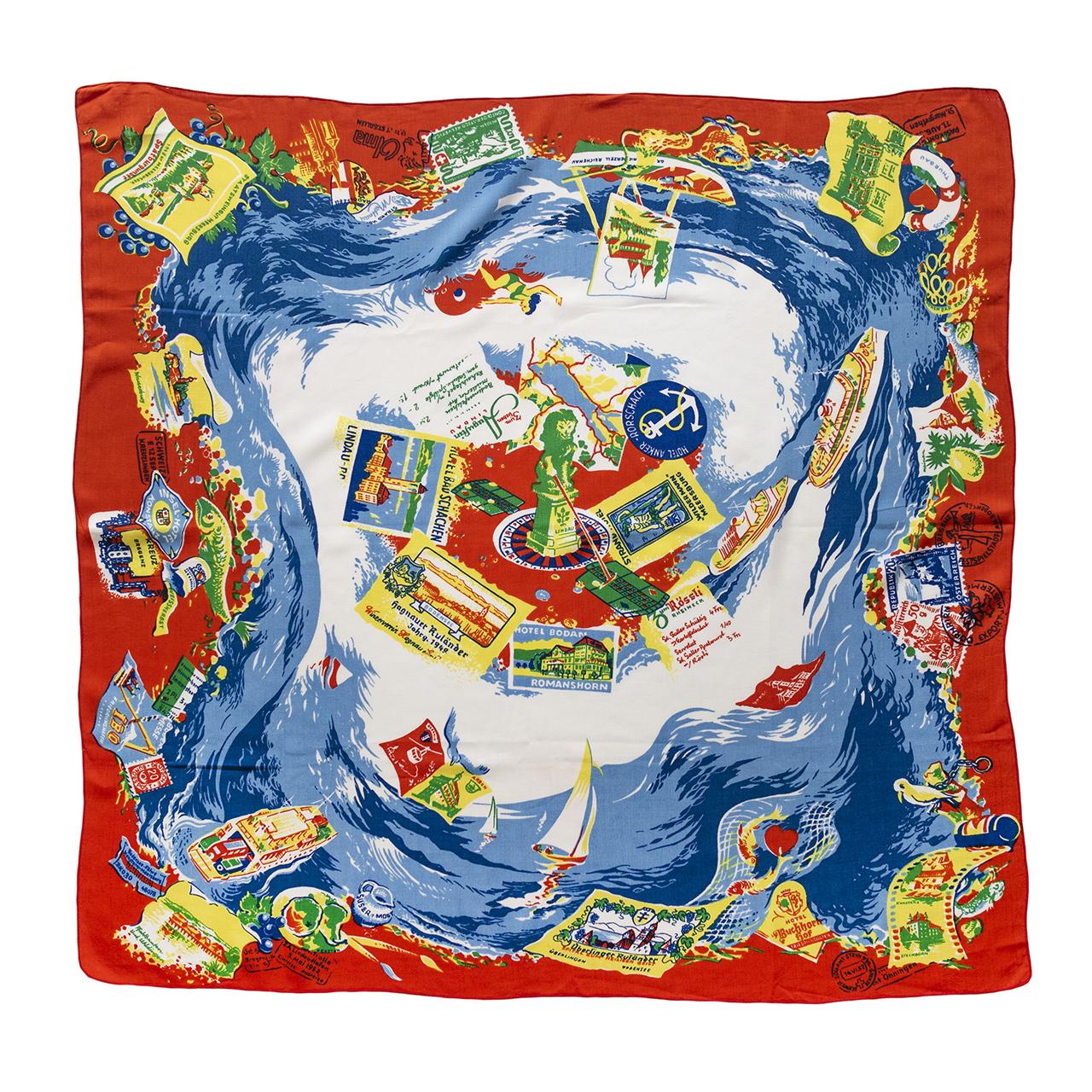 1950年代ボーデン湖お土産スカーフ