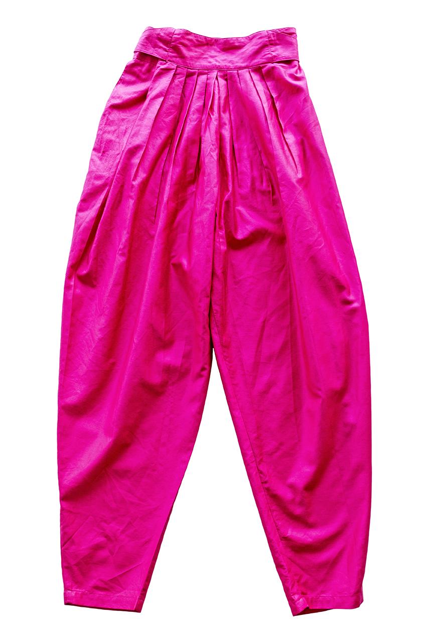 1980年代ショッキングピンクのコットンパンツ