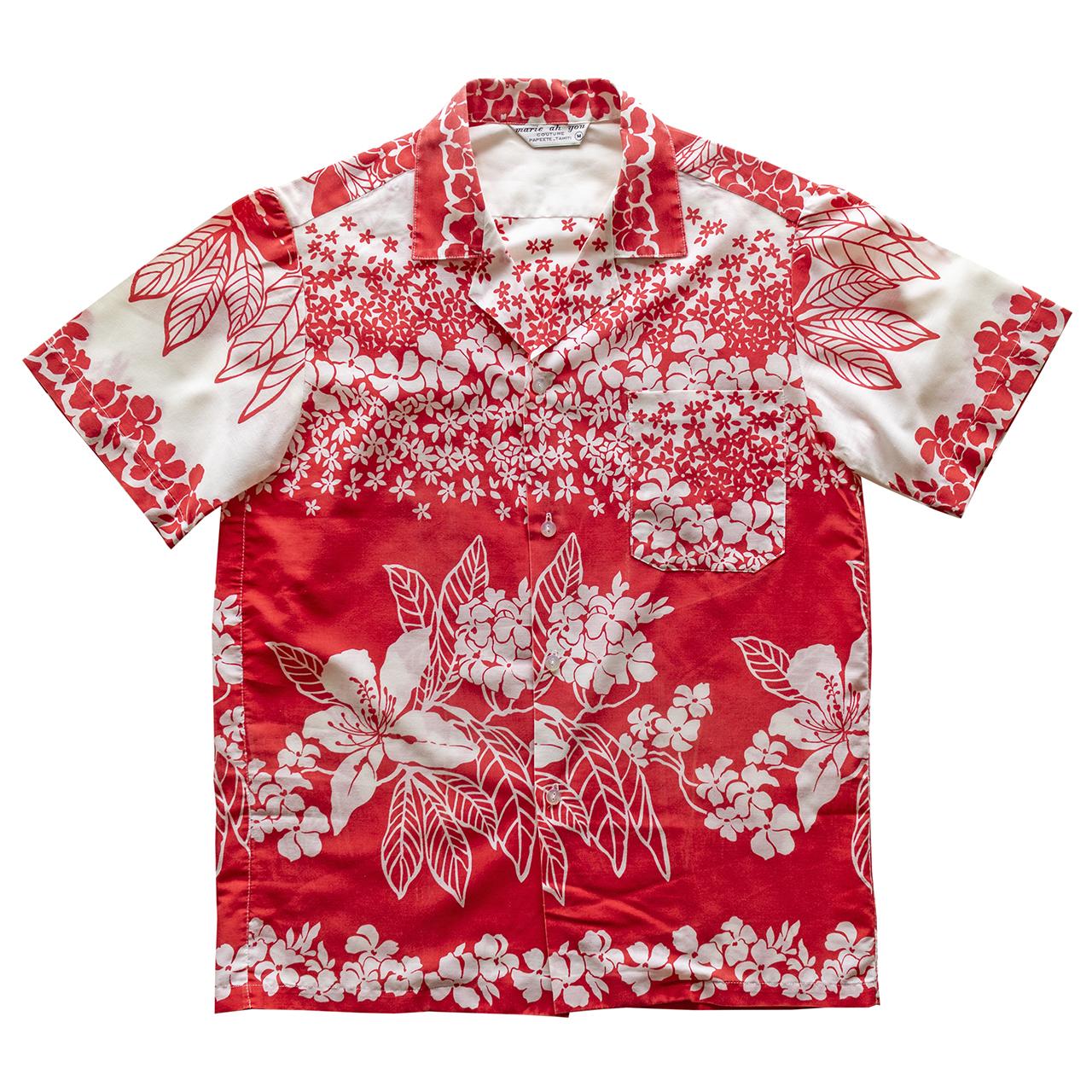 1970年代タヒチ製ハワイアンシャツ