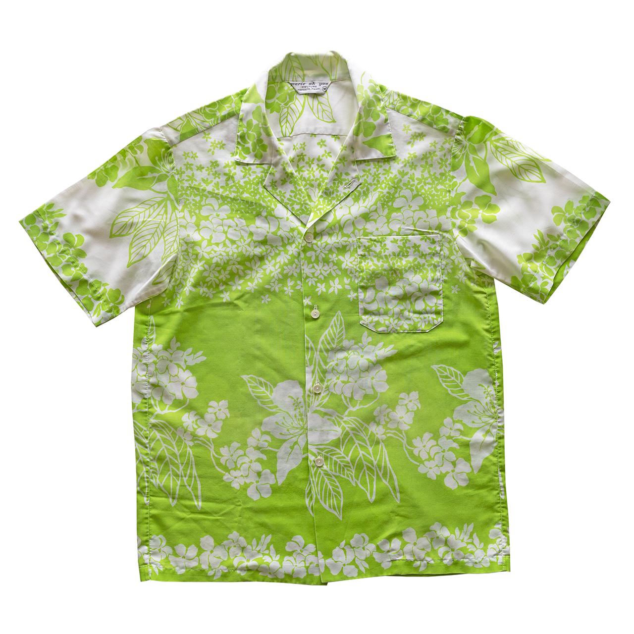 1970年代タヒチ製プリントシャツ