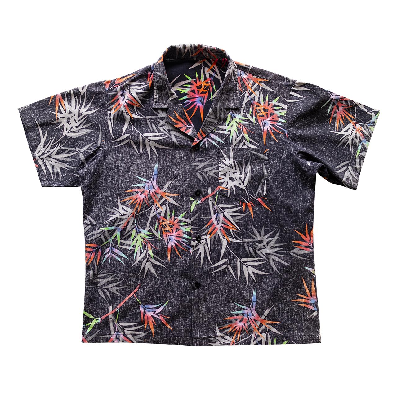 1980年代バンブー柄ハワイアンシャツ