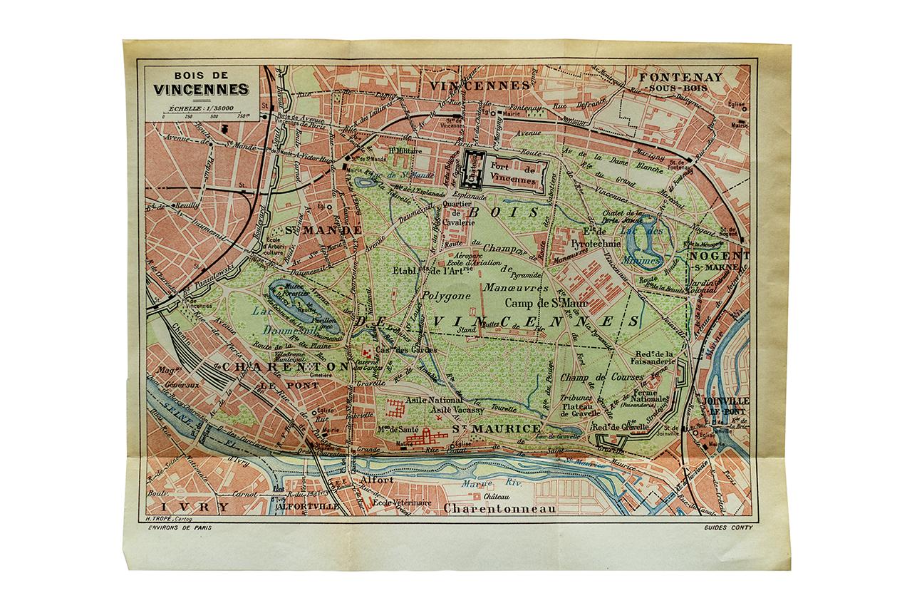1920-30年ごろのVincennes地図